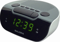 Salora CR612 Digital alarm clock Zwart, Grijs, Wit wekker