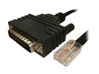 Digi 76000195 DB-25 RJ-45 Black cable interface/gender adapter