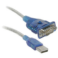 "C2G Port Authority USB Serial DB9 Adapter Cable 18"" USB A DB9 Blue cable interface/gender adapter"