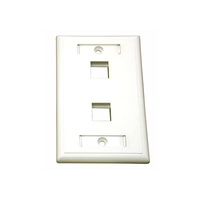 C2G 2-Port Multimedia Keystone Wall Plate - White White