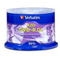 Verbatim DVD+R DL 8.5GB 8X 50 pk 8.5GB DVD+R DL 50pcs