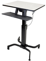 Ergotron WorkFit-PD Black,Grey Computer Desk