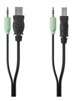 Belkin 4 pin USB A, 3.5mm/4 pin USB B, 3.5mm 4 pin USB A, 3.5mm 4 pin USB B, 3.5mm Black cable interface/gender adapter