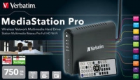 Verbatim MediaStation Pro Wireless Network Multimedia Hard Drive - 750GB Wi-Fi 750GB externe harde schijf