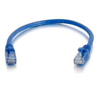 "C2G 6"" Cat5e 0.15m Cat5e U/UTP (UTP) Blue networking cable"
