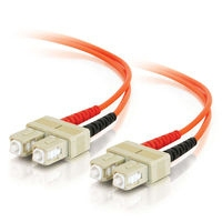 C2G 30m SC/SC Plenum-Rated Duplex 62.5/125 Multimode Fiber Patch Cable 30m Orange fiber optic cable