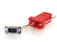 C2G RJ45/DB9M RJ45 DB9M Red cable interface/gender adapter