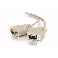 C2G 15ft DB9 M/F Extension Cable DB9M DB9F White cable interface/gender adapter