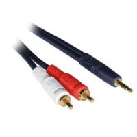 C2G 25ft Velocity™ 3.5mm Stereo M / Dual RCA M Y-Cable 7.62m 3.5mm 2 x RCA Blue audio cable