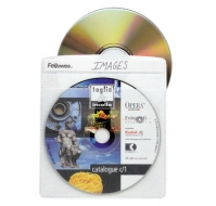 Fellowes CD/DVD Sleeves 100discs Transparent