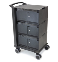Ergotron Cart 48 Notebook Multimedia cart Zwart