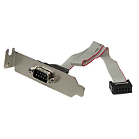 StarTech.com PLATE9MLP IDC RS-232 Grey cable interface/gender adapter