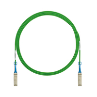Panduit PSF1PXA1MGR 1m SFP+ SFP+ Green fiber optic cable