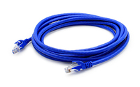 Add-On Computer Peripherals (ACP) ADD-35FCAT6A-BLUE-25PK 10.67m Cat6a U/UTP (UTP) Blue networking cable
