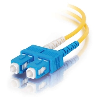 C2G 20m SC/SC Duplex 9/125 Single-Mode Fiber Patch 20m SC SC Yellow fiber optic cable
