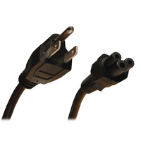Tripp Lite 3ft, NEMA 5-15P - IEC-320-C5 0.91m NEMA 5-15P C5 coupler Black power cable