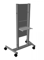 Infocus INA-CARTBB Flat panel Multimedia cart Black multimedia cart/stand