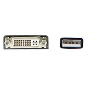 Add-On Computer Peripherals (ACP) 45K5296-AO-5PK USB 2.0 (A) DVI-I (29 Pin) Black cable interface/gender adapter