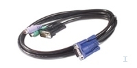 APC KVM PS/2 Cable - 3 ft (0.9 m) 0.91m Zwart electriciteitssnoer