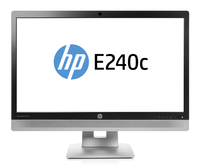 "HP EliteDisplay E240c IPS 23.8"" Black, Silver Full HD Matt"