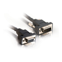 C2G 1ft Panel Mount HD15 M/F SXGA Monitor Extension Cable 0.3m VGA (D-Sub) VGA (D-Sub) Black VGA cable