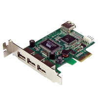 StarTech.com PEXUSB4DP interface cards/adapter