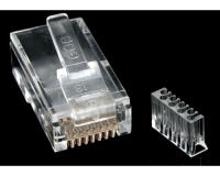 StarTech.com Cat. 6 RJ45 Connector for Solid Wire cable interface/gender adapter
