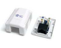 StarTech.com WALLBOX1WH RJ45 White cable interface/gender adapter
