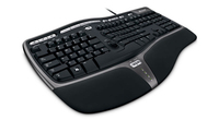 Microsoft Natural Ergonomic Keyboard 4000 f/Business USB QWERTY Black keyboard
