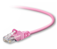 Belkin RJ45 CAT5e Patch Cable, Snagless Molded 1 ft 0.305m Pink networking cable