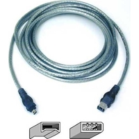 Belkin 6ft 4-Pin/6-Pin 1.83m 4-p 6-p Blue firewire cable