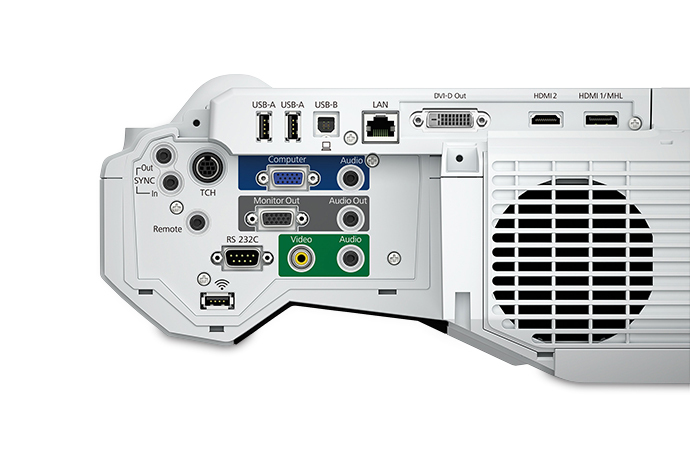 Epson 1460Ui Wall-mounted projector 4400ANSI lumens 3LCD WUXGA (1920x1200) White data projector