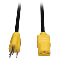Tripp Lite P006-004-YW 1.2m C13 coupler NEMA 5-15P Black, Yellow power cable
