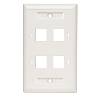 Tripp Lite N042-001-04-WH White switch plate/outlet cover