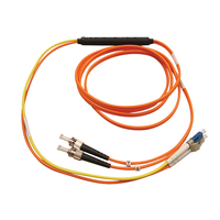 Tripp Lite N422-03M 3m ST LC Orange, Yellow fiber optic cable