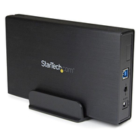 "StarTech.com S3510BMU33 HDD enclosure 3.5"" Black storage enclosure"