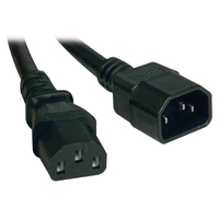 Tripp Lite P004-001 0.3m C14 coupler C13 coupler Black power cable