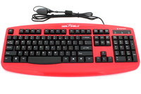 Seal Shield Silver Storm USB QWERTY US English Black,Red keyboard