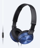Sony MDR-ZX310AP Head-band Binaural Wired Black,Blue mobile headset