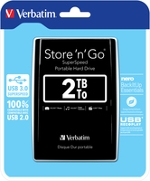 Verbatim Store 'n' Go 2048GB Black external hard drive