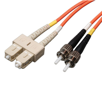 Tripp Lite N304-010 3m 2x ST 2x SC Orange fiber optic cable
