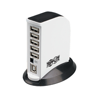 Tripp Lite 7-Port USB 2.0 480Mbit/s Black,White interface hub