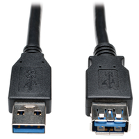 Tripp Lite U324-006-BK 1.83m USB A USB A Male Female Black USB cable