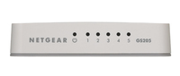 Netgear GS205-100PAS Unmanaged L2 Gigabit Ethernet (10/100/1000) White network switch