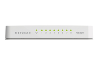 Netgear GS208-100PAS Unmanaged L2 Gigabit Ethernet (10/100/1000) White network switch