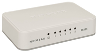 Netgear FS205-100PAS Unmanaged L2 Fast Ethernet (10/100) White network switch