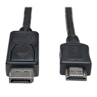 Tripp Lite P582-006 1.83m HDMI Type A (Standard) DisplayPort Black video cable adapter