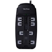 CyberPower CSP806TTAA 8AC outlet(s) 125V 1.8m Black surge protector