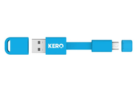 eReplacements MCU-B-ER USB A Micro-USB A Male Male Blue USB cable