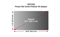 "Viewsonic VSPF2300 23"" Monitor display privacy filter"